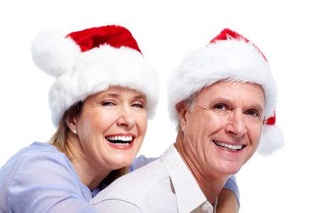 Happy santa couple. Stock Photo - 10857169