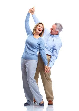 pareja bailando: Feliz pareja de ancianos.