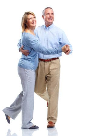 couple dancing: Feliz pareja de ancianos.