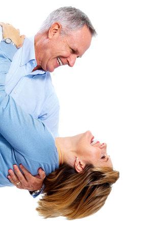 persone che ballano: Felice coppia di anziani.