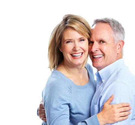 Happy elderly couple. Banco de Imagens