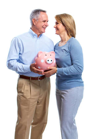 Couple with piggy bank. Stock Photo - 10857165
