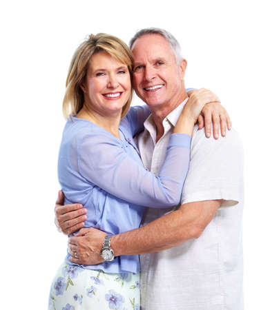 older women: Happy elderly couple. Stock Photo