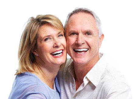 Heureux couple de personnes �g�es. Banque d'images - 10857276