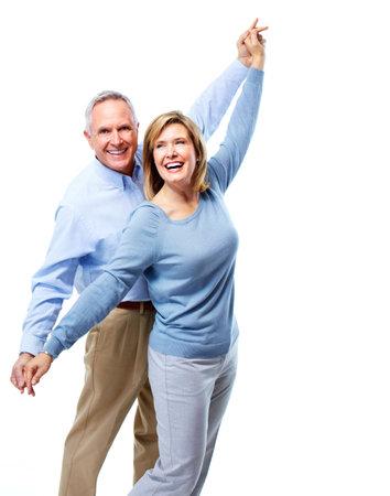 mature adult men: Felice coppia di anziani.