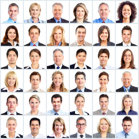 large: Business people team. Stock Photo