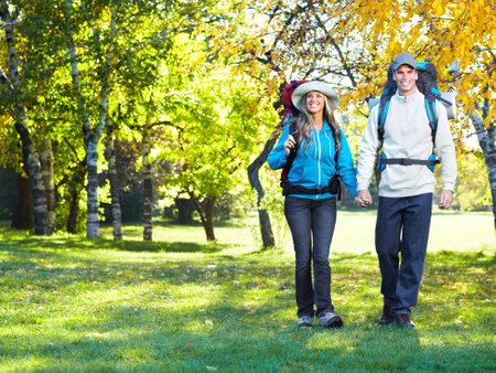 Hiking couple.