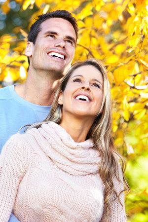 man woman hugging: Happy couple.