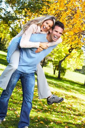 vida saludable: Pareja feliz. Foto de archivo