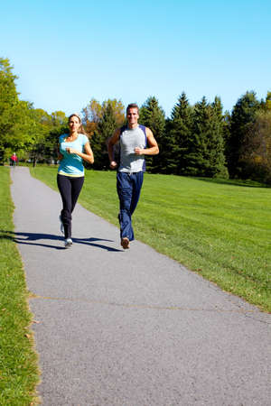 Jogging couple. Stock Photo - 10857228