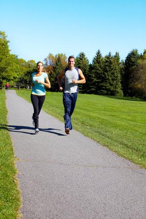 Jogging couple. Stock Photo - 10857228