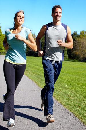 Jogging couple. photo