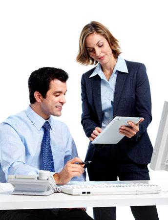 empleados trabajando: Equipo de personas de negocios. Foto de archivo