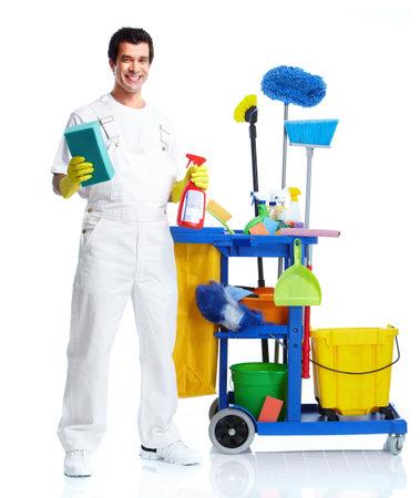 Limpiador. Foto de archivo