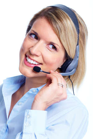 customer service representative: Call center operator.
