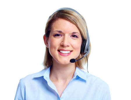 Call customer center operator. Stock Photo - 11070739