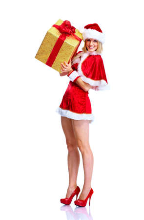 Christmas santa helper girl. photo