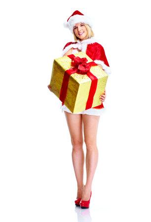 Christmas santa helper girl. photo