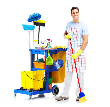 Cleaner worker man.