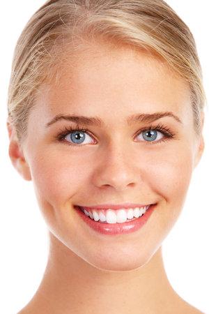 persona feliz: Mujer joven. Foto de archivo