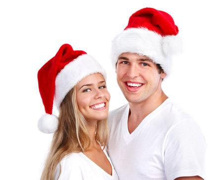 Happy Christmas santa couple.