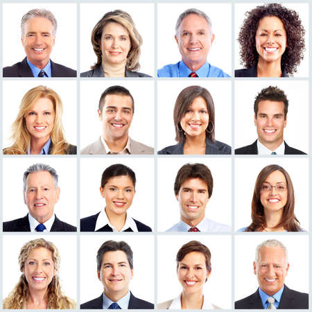 collage people: Business people team. Stock Photo