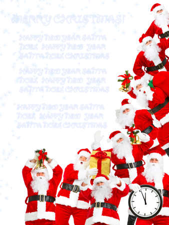 Santa Claus group. photo