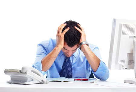 work: Businessman and stress