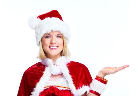 Christmas Santa helper girl. Stock Photo