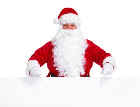 santa clause: Santa Claus with poster.
