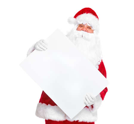 Santa Claus with poster. Stock Photo - 11071613