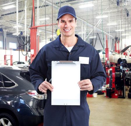 car maintenance: Auto mechanic. Stock Photo