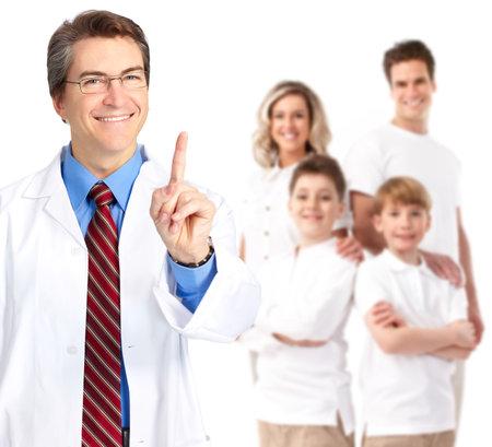 family practitioner: Family doctor man.
