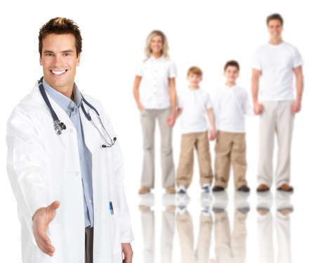 Family doctor man. photo