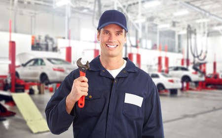 service car: Auto mechanic. Stock Photo