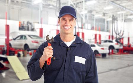 car repair shop: Auto mechanic. Stock Photo