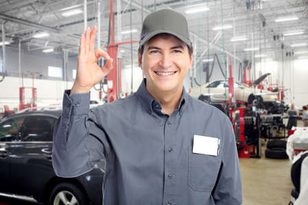 maintenance man: Auto mechanic. Stock Photo