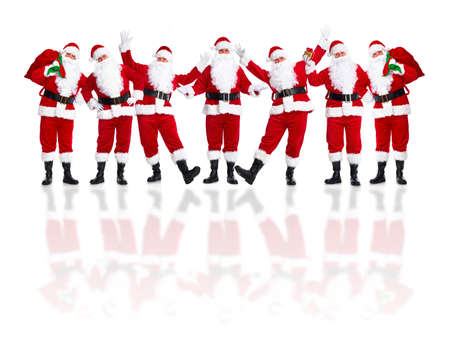 Santa Claus group. photo