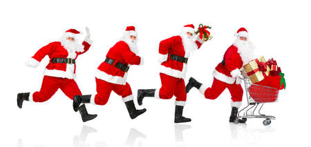 christmas costume: Santa Claus. Stock Photo