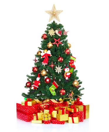 christmas backgrounds: Christmas tree. Stock Photo