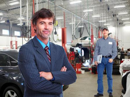 garage: Auto mechanic. Stock Photo
