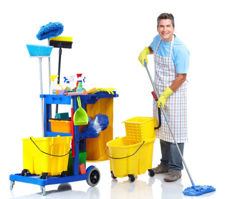 janitor: Cleaner man.