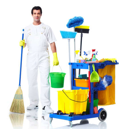 Cleaner man. photo
