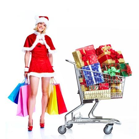 Christmas santa helper woman. photo