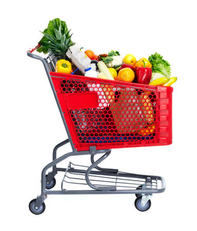 supermarket shopping: Shopping cart.