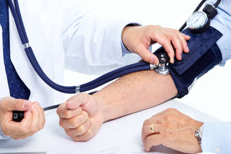 pressure: Blood pressure measuring. Stock Photo
