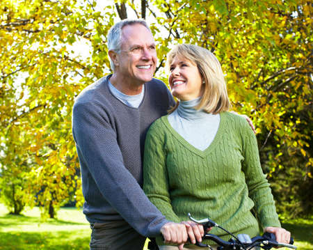 senior couples: Happy elderly couple. Stock Photo