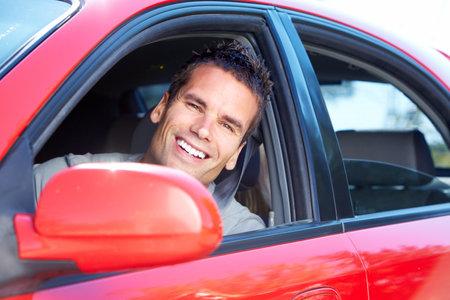 Man driving.