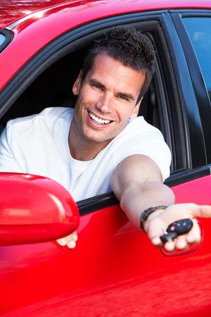 Man driving. Stock Photo