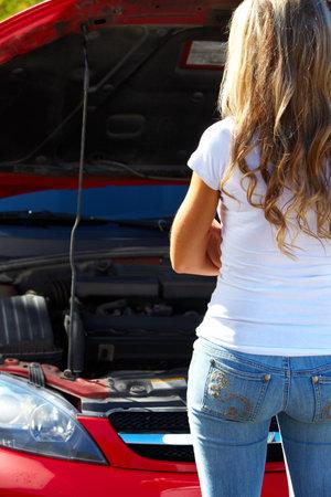 Car problem. Stock Photo - 11292646
